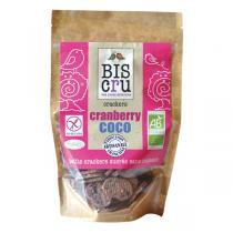 Biscru - Crackers Cranberry Noix de coco 70 g