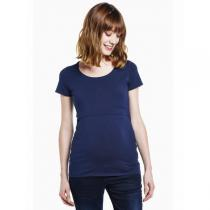 Boob - Nursing Top Short Sleeve Navy Blue