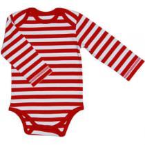 Canboli - Body Manches Longues bébé Rayé Rouge Blanc coton bio
