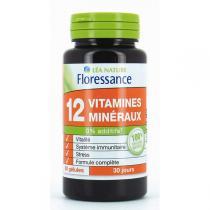 Floressance - 12 vitamines et minéraux - 60 gélules