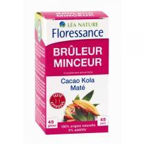 Floressance - Brûleur Minceur Cacao Kola Maté - 45 gélules