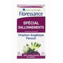 Floressance - Anti Ballonnements Charbon Fenouil Angélique - 45 gélules