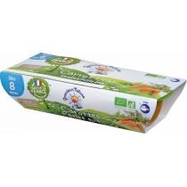 Grandeur Nature - Purée carottes petit pois babyfood dès 8 mois 2x120g