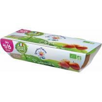 Grandeur Nature - Purée de fruits pommes babyfood dès 4-6 mois 2x120g