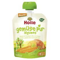 Holle - Gourde Carotte patate douce petits pois Dès 4m 90g