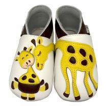 Lait et Miel - Chaussons Cuir Girafe 3-4ans