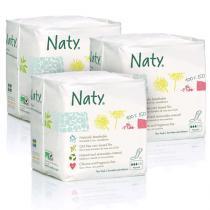 Eco by Naty - Pack 3 paquets de 15 Serviettes hygiéniques Normales