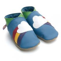Starchild - Babyschuhe aus Leder - Regenbogen - blau - 0-24 Monate