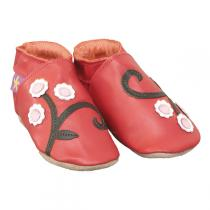 Starchild - Chaussons cuir Cherryblossom Rouge 2-5 ans