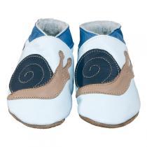 Starchild - Babyschuhe aus Leder - Schnecke - blau - 0-24 Monate