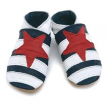 Starchild - Chaussons cuir Etoile marine 0-24 mois