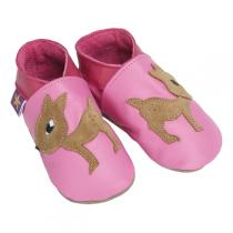 Starchild - Chaussons cuir Faon Rose 0-24 mois