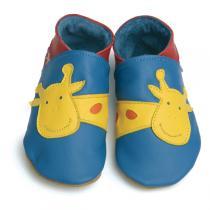 Starchild - Hausschuhe aus Leder - Girafffe - blau - 2-5 Jahre