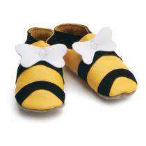 Starchild - Chaussons cuir Honey Bee Jaune 0-24 mois