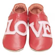 Starchild - Chaussons cuir Love Rouge 0-24 mois