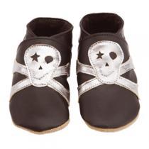 Starchild - Babyschuhe aus Leder - Tommy Skull - schwarz & silber - 0-24 Mon
