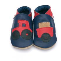 Starchild - Chaussons cuir Tracteur Bleu Marine 2-5 ans