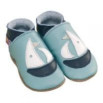 Starchild - Babyschuhe aus Leder - Yacht - aqua blau - 0-24 Monate