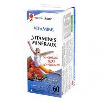 Vecteur Santé - Vit&Mine Vitamines et Minéraux x 60 gélules végétales