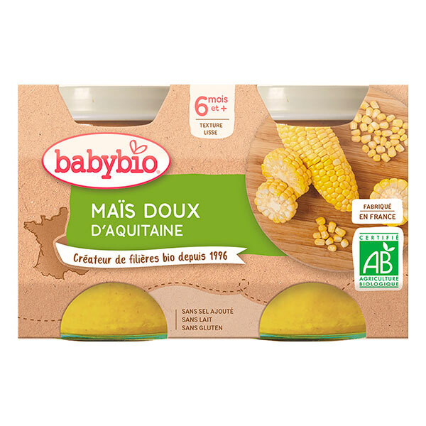 Babybio - Maïs doux d'Aquitaine dès 6 mois