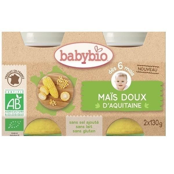 Babybio - Maïs doux d'Aquitaine dès 6 mois 2x130gr