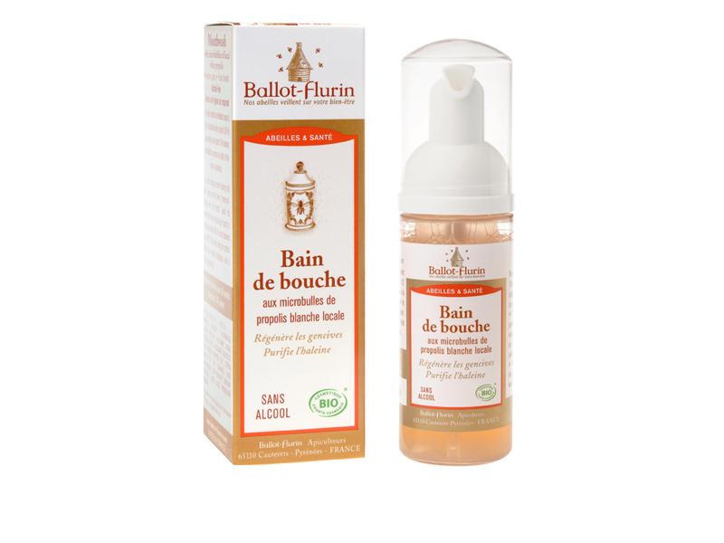 Ballot-Flurin - Bain de bouche aux microbulles de propolis blanche locale 50ml