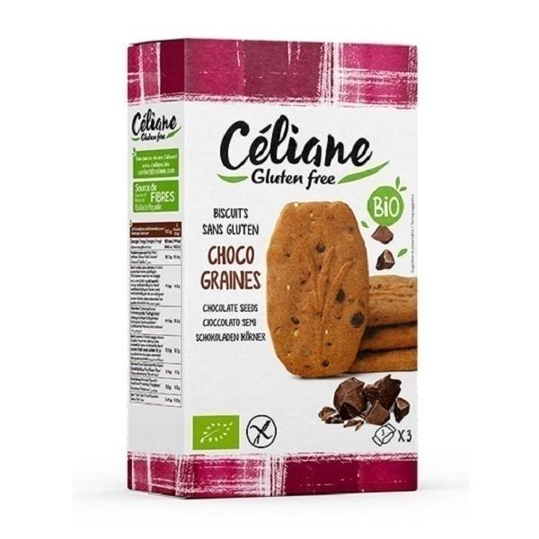Céliane - Biscuits petit déjeuner chocolat graines 150g