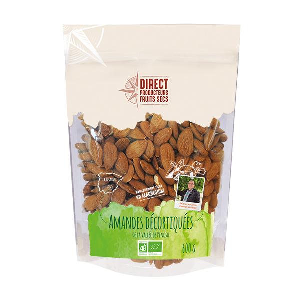 Direct producteurs Fruits secs - Amandes décortiquées de la vallée de Pinoso Espagne Bio 600gr