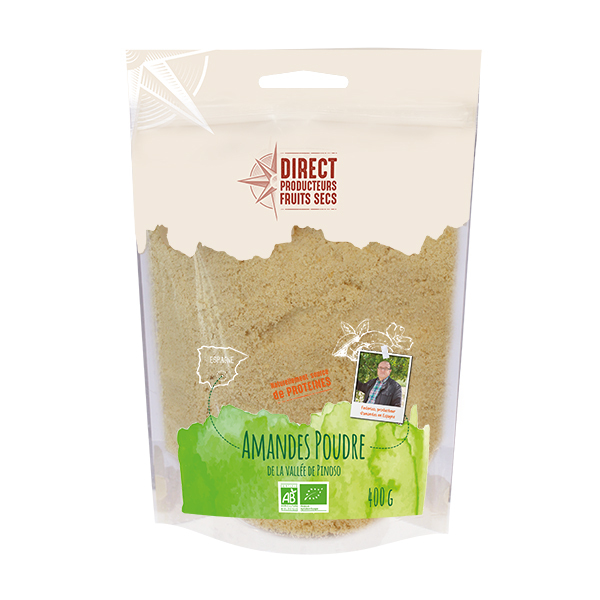 Direct producteurs Fruits secs - Amandes poudre de la vallée de Pinoso Bio - 400 g