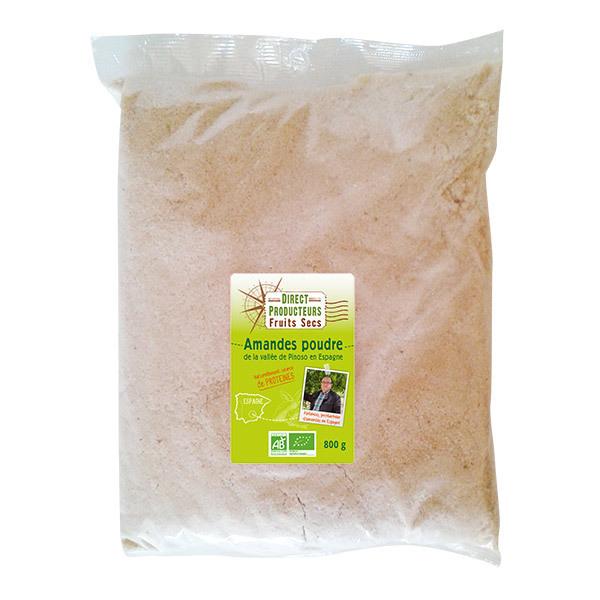 Direct producteurs Fruits secs - Amandes poudre de la vallée de Pinoso en Espagne Bio - 800 g