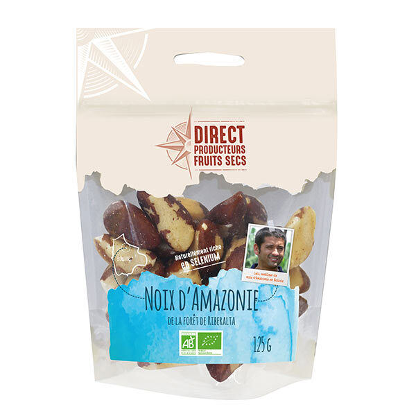 Direct producteurs Fruits secs - Noix d'Amazonie de Bolivie Bio - 125gr