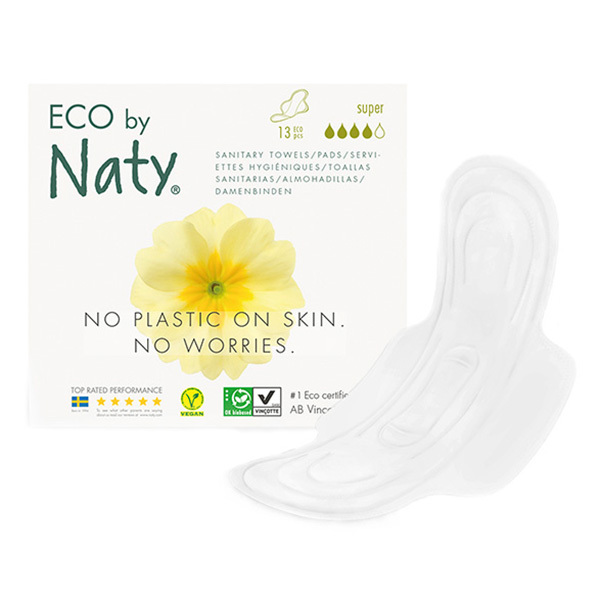 Eco by Naty - Pack 3 paquets de 13 Serviettes hygiéniques Super