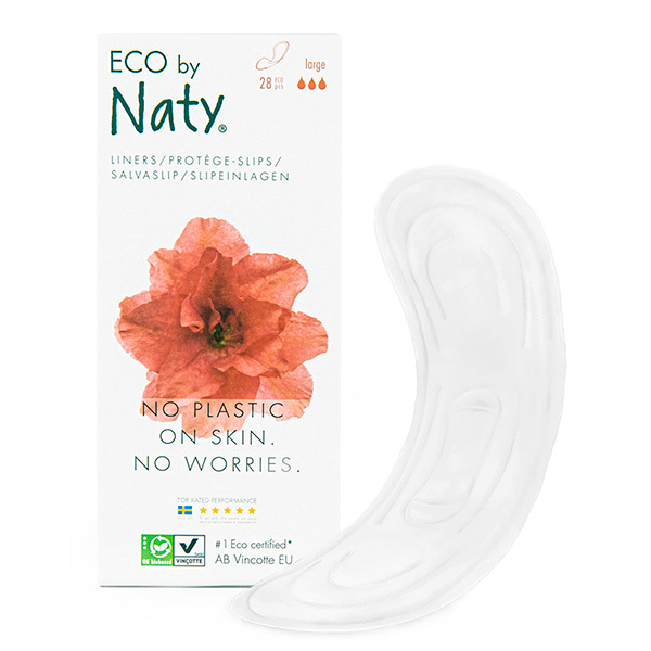Eco by Naty - Pack 3 paquets de 28 Protège-slips Larges