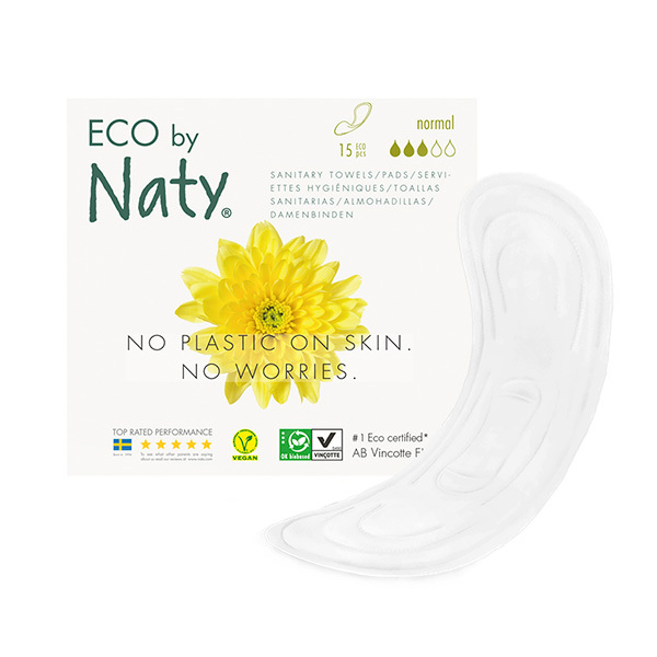 Eco by Naty - Pack 3 paquets ds 13 Serviettes hygiéniques Extra Normales Plus