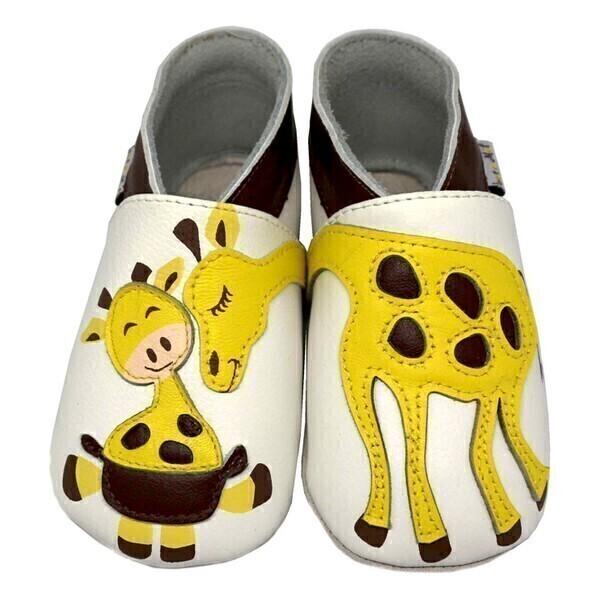 Lait et Miel - Chaussons Cuir Girafe 2-3ans