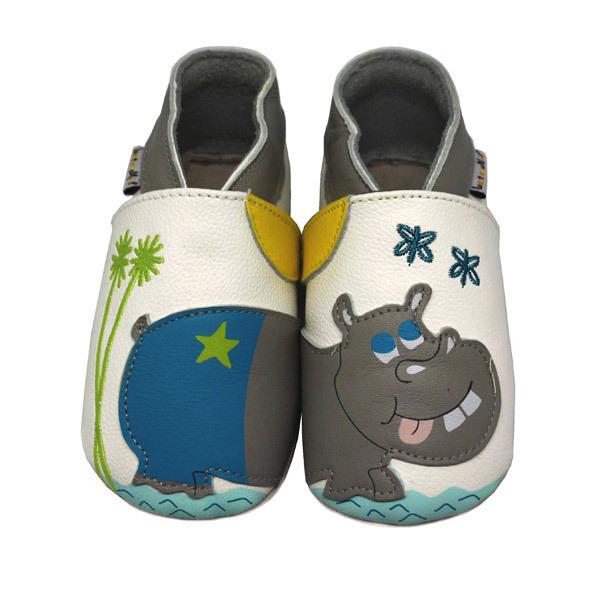 Lait et Miel - Chaussons Cuir Hippopotame 2-3ans