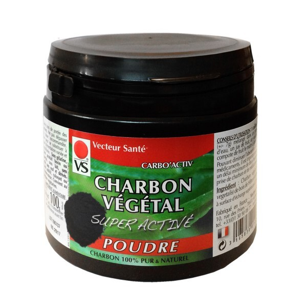 charbon super activ poudre 100g vecteur sant acheter sur. Black Bedroom Furniture Sets. Home Design Ideas
