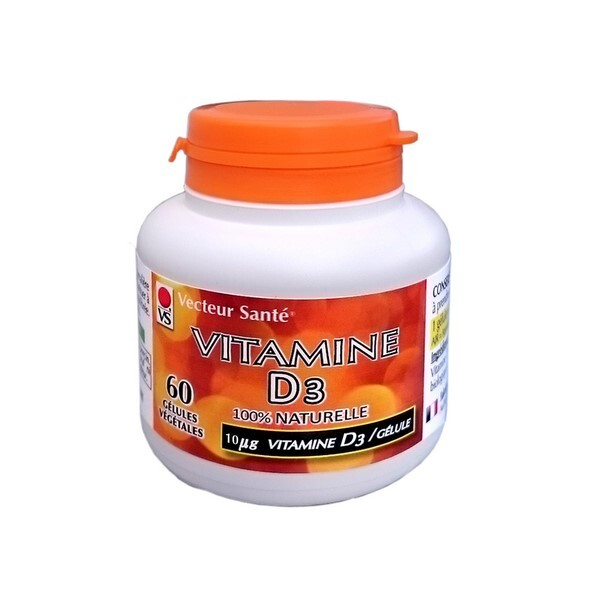 Vecteur Santé - Vitamine D3 10µg 60 gél