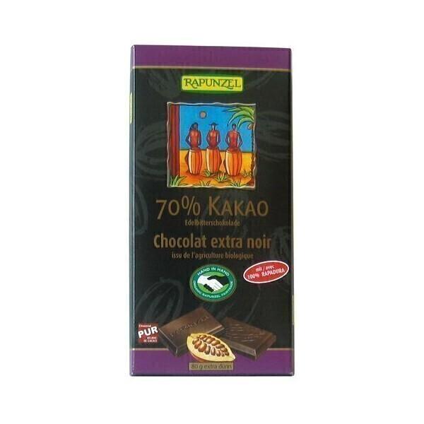 Rapunzel - Chocolat Extra Noir 70% Bio 80 g