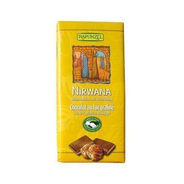 Rapunzel - Chocolat Nirwana Lait Praliné Bio 100 g