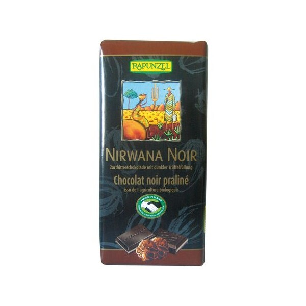 Rapunzel - Chocolat Nirwana Noir Praliné Bio 100 g