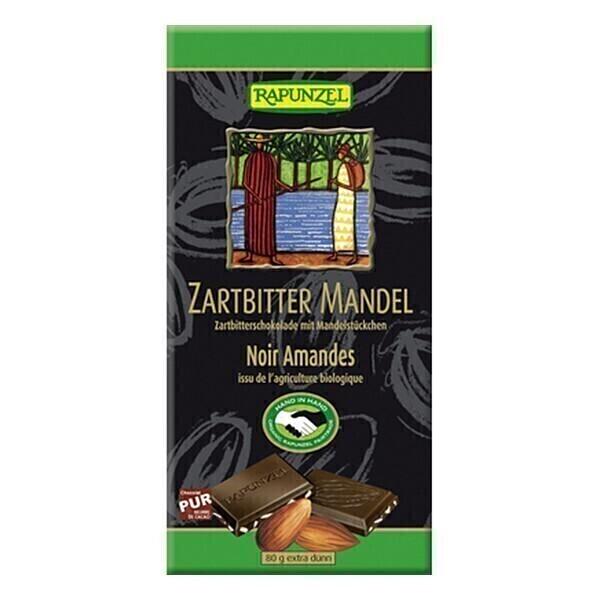 Rapunzel - Chocolat Noir aux Amandes Bio 80 g