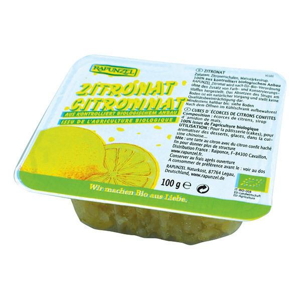 Rapunzel - Ecorces de Citron Confites Cubes 100g BIO