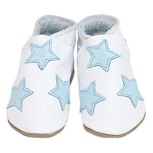 Starchild - Hausschuhe aus Leder - Sterne - weiss - 2-5 Jahre