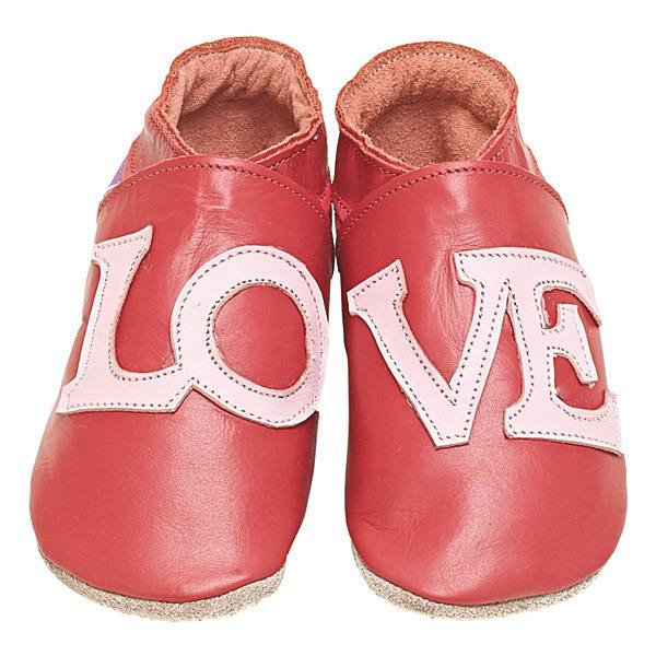 Starchild - Babyschuhe aus Leder - Love - rot - 0-24 Monate