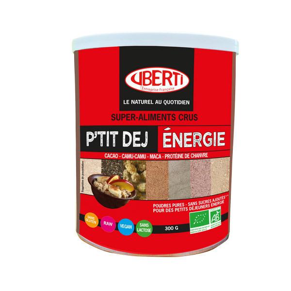 Uberti - Ptit Dej' énergie poudre Bio - Pot : 300 G