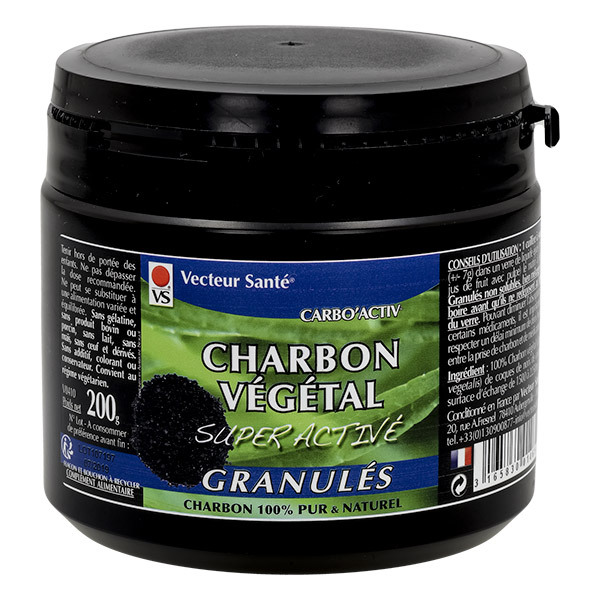 Vecteur Santé - Charbon super activé granulés 200g