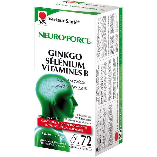 Vecteur Santé - Neuro'Force Ginkgo Sélénium Vitamines B x 72 gélules végétales