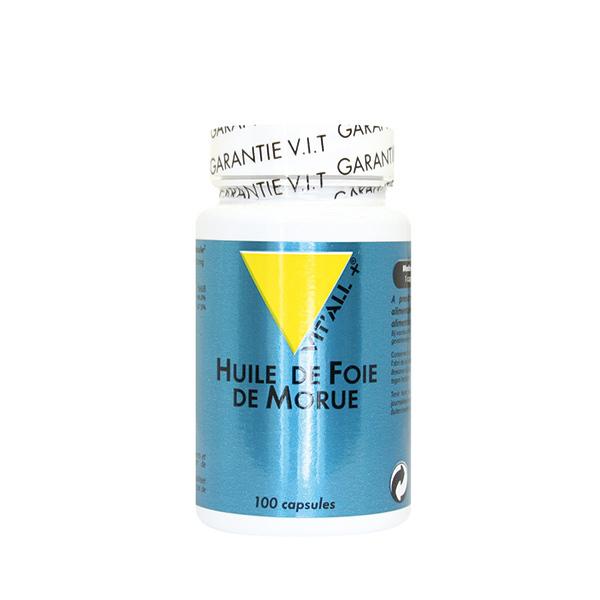 Vitall+ - Huile de foie de morue - 100 capsules
