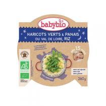 Babybio - AssietteBonne Nuit Haricots verts Panais Riz dès 15m